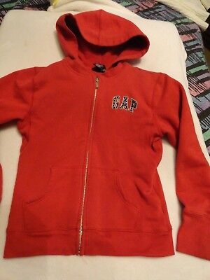 Girls Red Gap Kids  Hoodie Sweatshirt - SZ 7-8