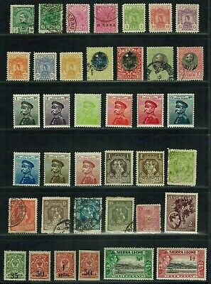 """Worldwide Collection - Early Lot of 72 stamps """"S"""" Countries Used, MH, MLH"""