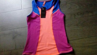 Girls M&S  Sleeveless Sports Active Top Winner Moisture Wicking age 11-12 bnwt *