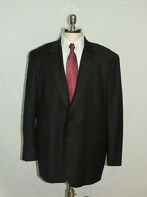 Charcoal Grey 2 Button 48R Sports Coat Blazer Jacket Made Italy Brooks Brothers