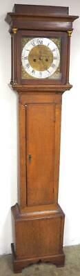 Superb Antique 8 Day Grandfather Clock English Oak Cased Striking Longcase C1800