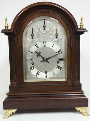English Triple Fusee Bracket Clock 8 Day Fusee 8 Gong Dual Musical Bracket Clock