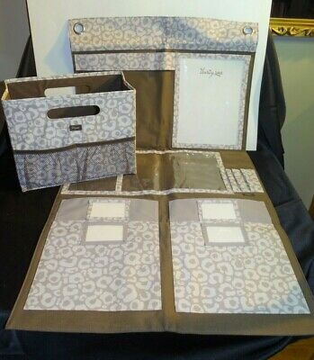 2 PC Thirty One 31 Hang Up Home Office  Organizer AND Fold and File Say It Taupe