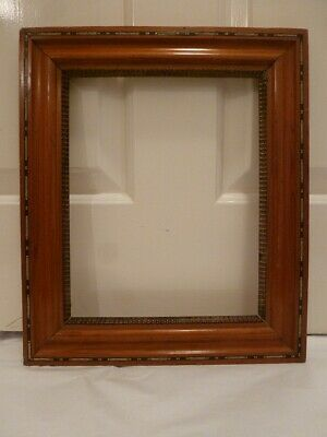 SUPERB INLAID 19th Century French frame, rebate size 21.2 cm x 26.4 cm