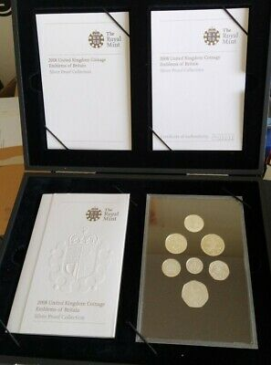 GB 2008 Silver Proof Set Emblems Of Britain Bullion Boxed COA 99p Start