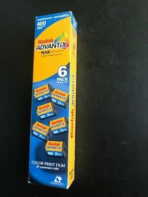 New in unopened Box - Kodak Advantix 400 film 25 exp 6 pack expired 05/2003