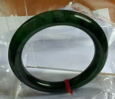 China  Full Green Jadeite jade Round side Bracelet 玉镯