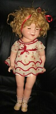 1930's Composition Shirley Temple Doll W/2 Tagged NRA Dresses Pin Shoes & Socks