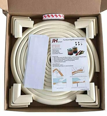 JH Sport Baby Proofing Edge and Corner Guards Piece 20.4ft + 12 Corners, Ivory