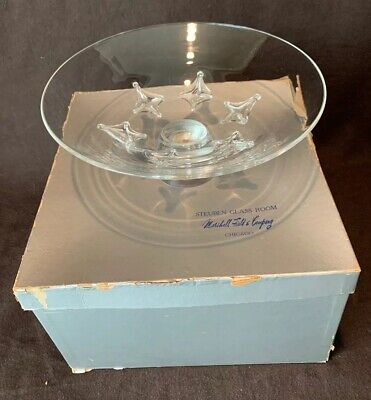 """Steuben Glass 8114 Star Footed Bowl 10 1/4"""" Diameter in Box"""