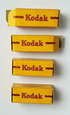 WWII 4 Boxes Kodak Verichrome V127 Film Tropical Packing EXPIRED FOR DISPLAY