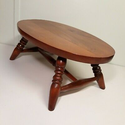 "Antique Foot Stool Small Cricket, Vintage Primitive Wood 15.5"" Footstool"