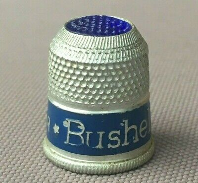 Vintage BUSHELLS - Tea Of Flavour THIMBLE, Advertising, Sewing - Excellent