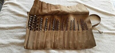 Vintage Timber Drill Bits Set Of 21 Bits In Original Leather Case