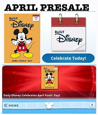 Presale: April 30 Card Set Sent Daily-Fools Day++Topps Disney Collect Digital