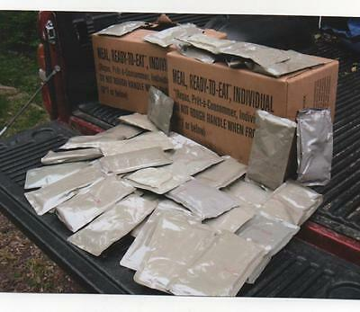 Military surplus MRE (Meals Ready to Eat) 14 Main Meal Entrees + 6 Side Dishes