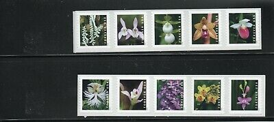 2020 Wild Orchids forever stamp mint coil strip of 10 without plate number