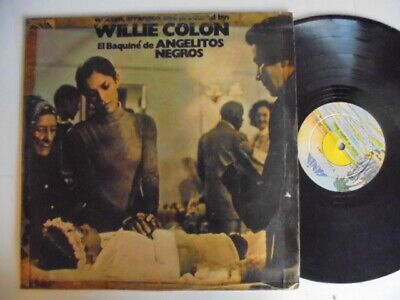WILLIE COLON Angelitos Negros FANIA Colombia + Latin Salsa Guaguanco LP HEAR
