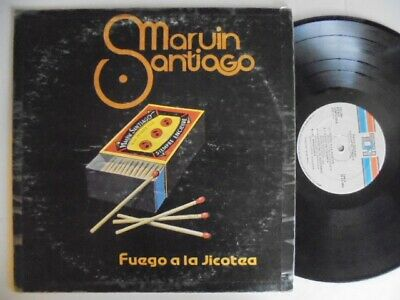 MARVIN SANTIAGO Fuego A La Jicoteca TH  Latin Salsa Guaguanco LP HEAR