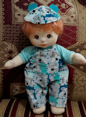 MATTEL MY CHILD DOLL RED HEAD BROWN EYES Dressed in teddy ducky suit