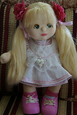 MATTEL MY CHILD HANDMADE PINK APRON OUTFIT, shoes and socks (NO DOLL)