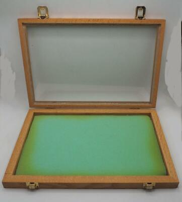 """16/"""" x 12/"""" Flat Thin Glass Top Display Case Specimen Mount Jewelry Medals Smalls"""