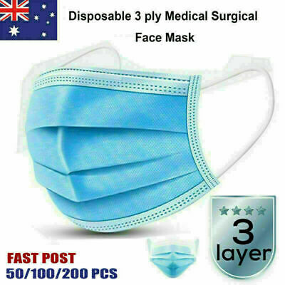 10-50 3ply Disposable Mouth Guard Protection surgical face flu, dust, bacteria