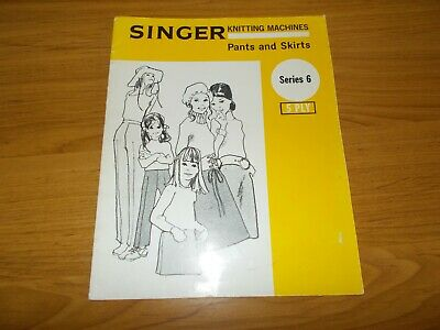 Singer Machine Knitting Book Classic 6~Pants & Skirts~A-Line~Straight Skir~5 Ply