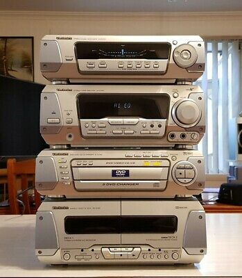 Vintage Technics 5Cd/ 4 Piece Component Units/Made In Japan
