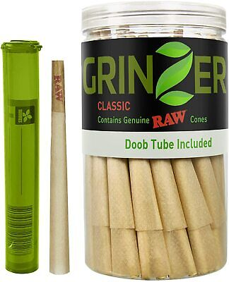 RAW Cones Natural Pre Rolled 100pc King Size Cigarette Rolling Paper w/ Filter T