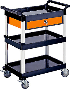 Triple Tray Tool Cart With Drawer T&E Tools EG100
