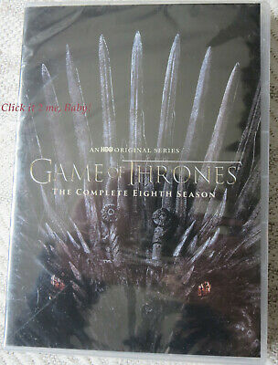 Game of Thrones The Complete EIGHTH Season 8 4-Disc DVD Set NEW SEALED Slim Case