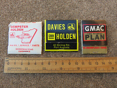 Vintage Advertising  Holden Car Gmh Australian Match Boxes Safety Matches