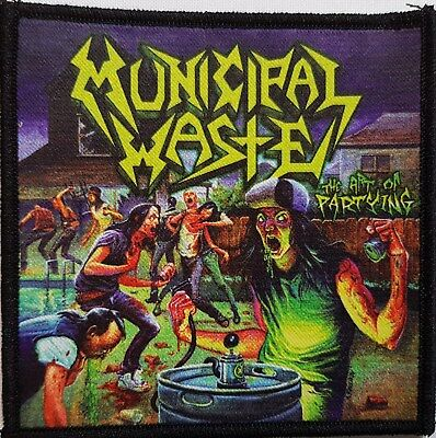 Municipal Waste - The art of Partying  -  printed patch - FREE SHIPPING !!!!