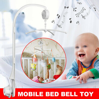 Baby Mobile Crib Cot Musical DIY Wind up Toys Music Box Hanger Arm Bed Bell