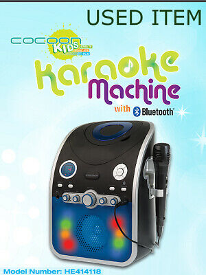 Cocoon CDG CD+G Graphics karaoke machine w Bluetooth, USB charging and 1x Mic