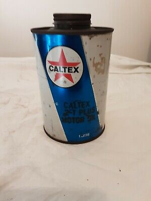 Caltex Motor Oil Tin