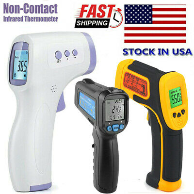 Medical Digital Infrared Forehead Fever Gun Thermometer Non-Contact ℃/℉ Adult US