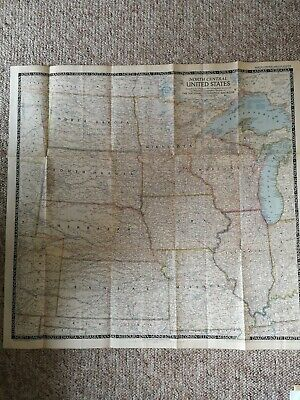 Map of North Central United States. National Geographic June 1948