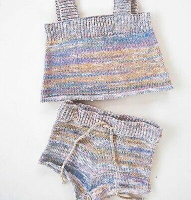 Millk Rainbow Knit Two Piece Single and Shorts Size 7