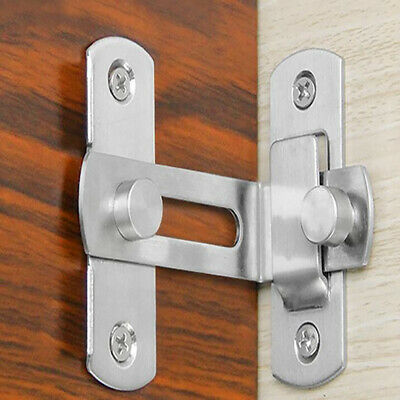 Anti-theft Stainless Steel Bolt Home Lock Gate Door Sliding Flip Latch Buckle YI