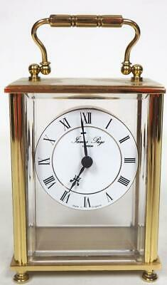 Quality Solid Brass Carriage Clock Finely Shaped Mantel Clock James Page London