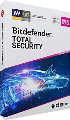 Bitdefender Total Security 2020 - Includes Vpn -  3 Pc Device  - 1 Year Download