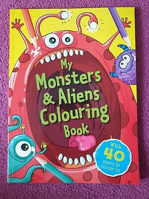 Monsters & Aliens Colouring Book  BORED  CHILDREN HOME OFF SCHOOL SELF ISOLATE