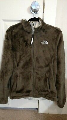 The North Face Womens Osito Fleece Warm Jacket Coat Brown Size M