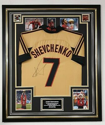 *** Andriy Shevchenko SIGNED Shirt Autographed Jersey AC MILAN Display ***