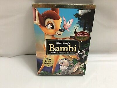 Walt Disney Bambi Movie Children's Dvd 2 Disc Special Edition Platinum Edition