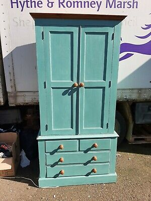 Solid pine wardrobe with drawers