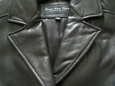MARC NEW YORK BY ANDREW MARC GLOVE LEATHER BLACK 3/4 L COAT XL w TAG