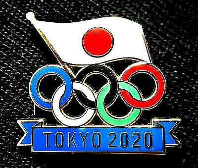 "Beautiful Tokyo 2020 ""Rings"" Olympic Games Collector Pin Japanese Blue"